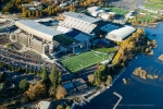 Seattle - Aerial photography of Husky Stadium at the University of Washington, Seattle
