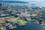 Seattle - Aerial photography of MOHAI, South Lake Union neighborhood, and downtown Seattle skyline for Vulcan Real Estate