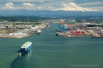 Seattle - Aerial photography at Port of Tacoma, WA
